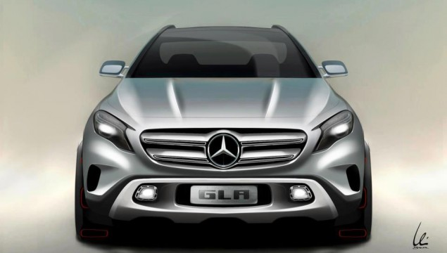 Mercedes-Benz GLA Sketch Revealed Ahead of Shanghai Premiere