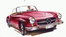 Mercedes-Benz 190 SL (W 121, 1955 - 1963). Advertisement, 1956