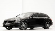 Brabus B63S Mercedes CLS63 AMG Shooting Brake front and side