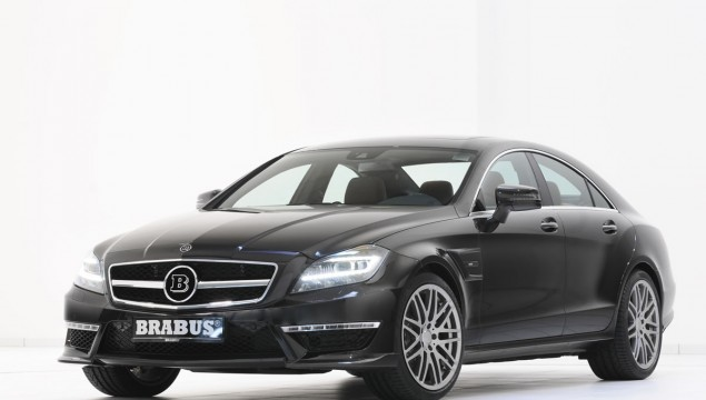 Brabus B63S Mercedes CLS63 AMG front and side view