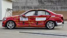 Mercedes C-Class front Crash Test