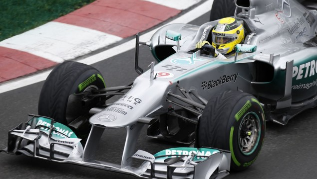 Lewis Hamilton Stands on the Podium at Canadian Grand Prix