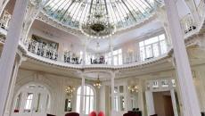 Hotel Hermitage Monte Carlo Gustave Eiffel Dome in Winter Garden