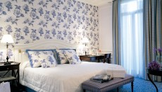 Hotel Hermitage Monte Carlo Suite with Blue Accents