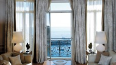 Hotel Hermitage Monte Carlo Seating Area and Balcony Overlooking Harbour