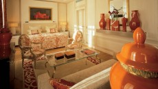 Hotel Hermitage Monte Carlo Suite with Burnt Orange Accents