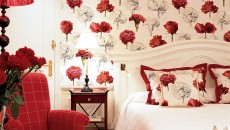 Hotel Hermitage Monte Carlo Suite with Red Floral Accents