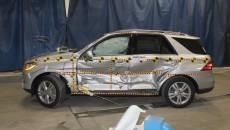 Mercedes M-Class side impact Crash Test