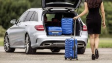 Mercedes-Benz Collection: Suitcase, Spinner in south sea blue. By Samsonite for Mercedes-Benz.