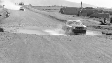 "Southamerican-rallye ""Vuelta a la América del Sud"", from august 17 to September 24 in 1978. The later victors, the scottish/english Mercedes-Benz Team Andrew Cowan / Colin Malkin with their Mercedes-Benz Type 450 SLC."