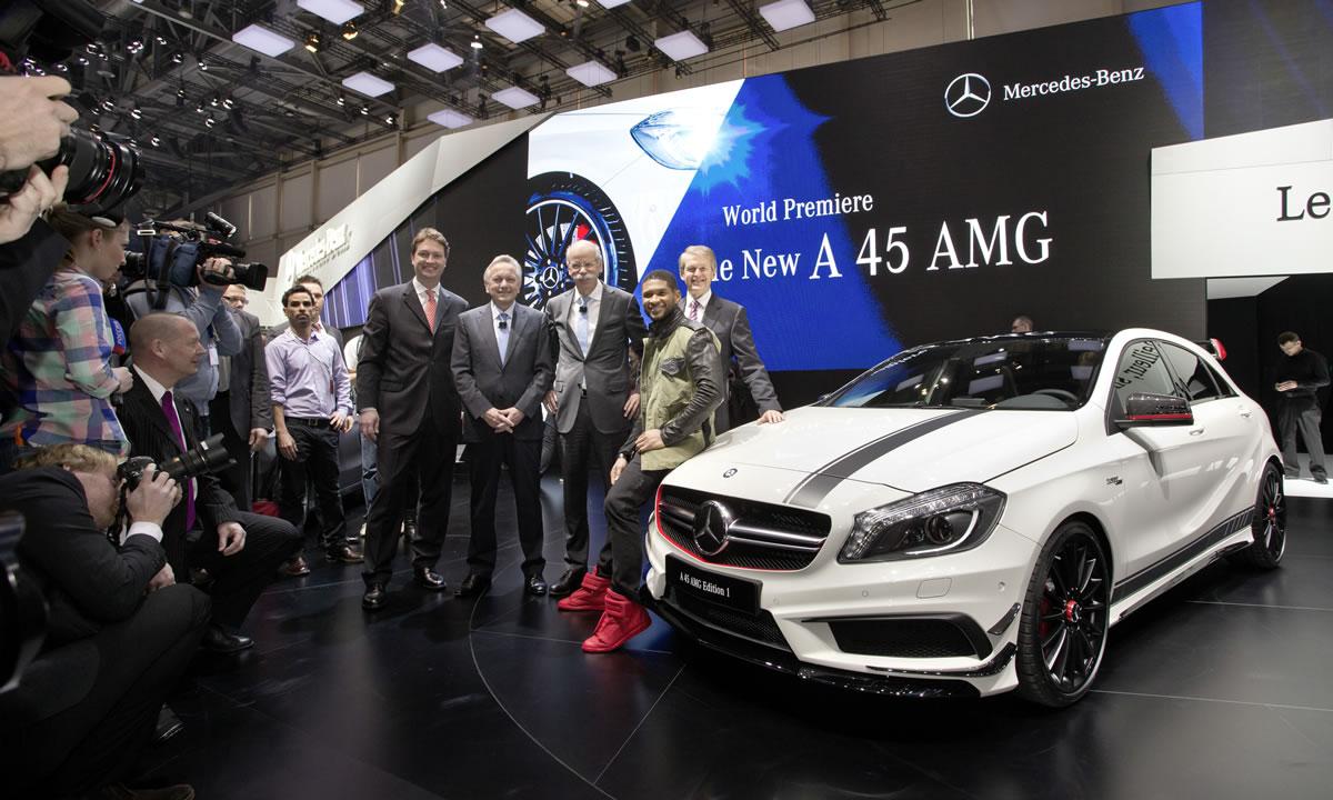 Mercedes A45 AMG Geneva Motor Show Usher Raymond 5