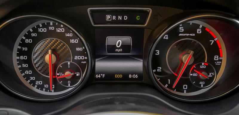 2014 Mercedes CLA45 AMG Speedometer