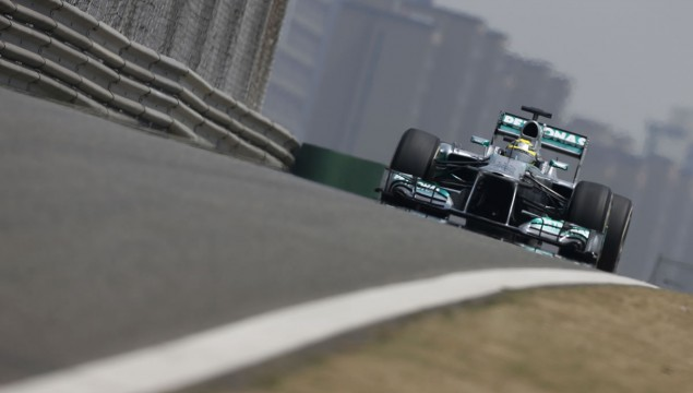 Mercedes AMG Petronas' Lewis Hamilton Gets Podium Finish in China