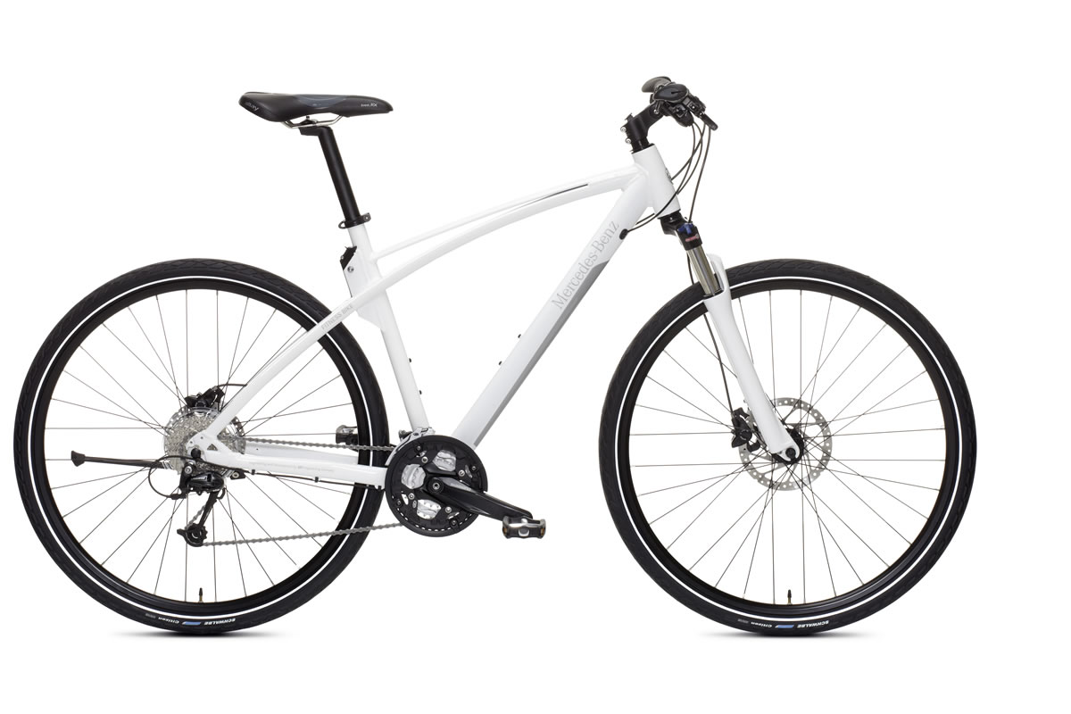 Mercedes-Benz fitness bike, 29-inch, white/silver, available in M (frame height 49 cm), L (frame height 52 cm) and XL