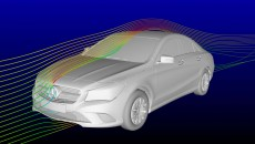 Every component of the new CLA-Class will have been improved by undergoing several control loops with the help of airflow simulations before it is allowed to prove its aerodynamic properties with measurements in the wind tunnel.
