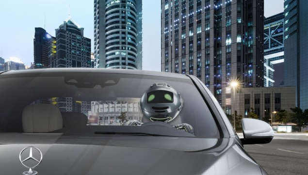 A driving robot ? - in the future the car drives independently