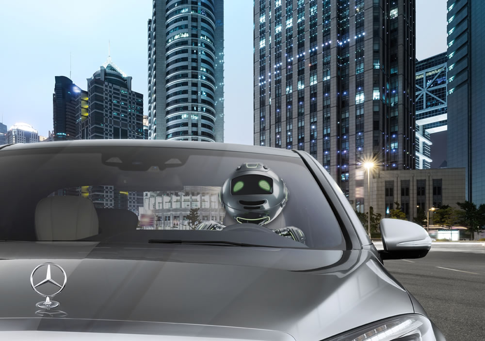 A driving robot ? – in the future the car drives independently