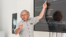 Alexander Mankowsky at the Mercedes-Benz Future Talk Robotics
