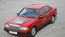 Mercedes-Benz 190 model, experimental vehicle (W 201) with electric drive, 1991.