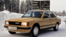 Mercedes-Benz model series W 201, development history. Winter testing of a camouflaged prototype