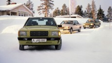 Mercedes-Benz model series W 201, development history. Winter testing with prototypes and near-production bodywork