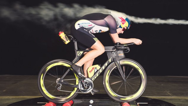 Sebastian Kienle rides in Mercedes-Benz in Wind Tunnel