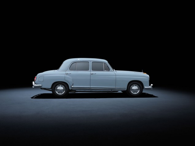 Mercedes-Benz 220 (W 180, 1954 to 1956). The car in the photo dates from 1955