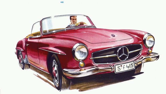 Mercedes-Benz 190 SL (W 121, 1955 - 1963). Advertisement, 1956