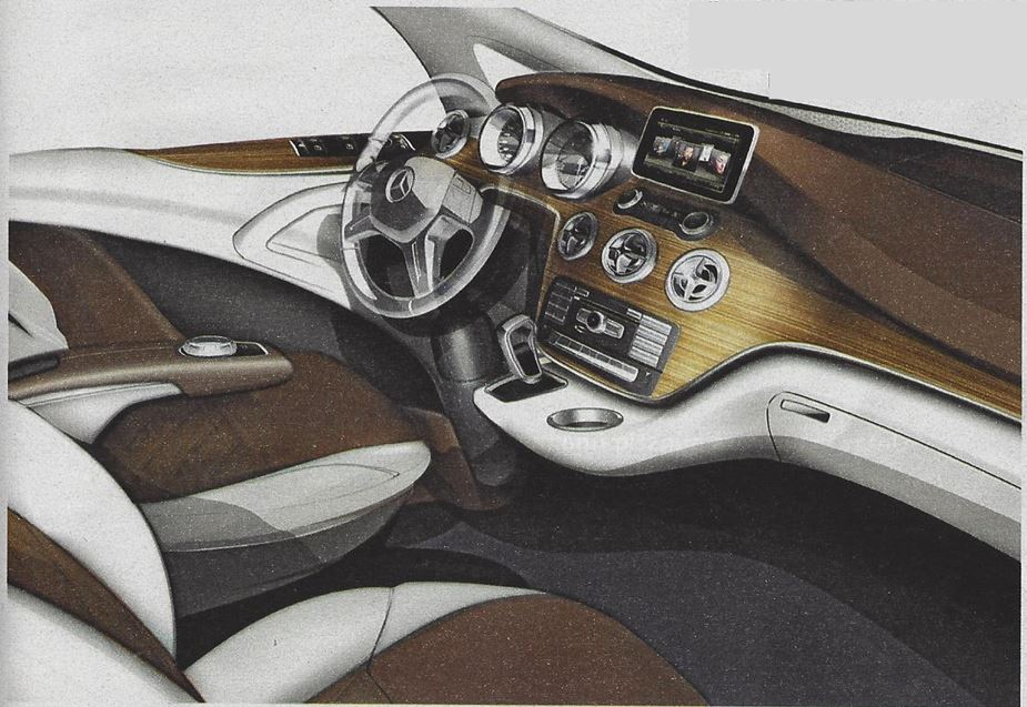 Next Generation Mercedes-Benz Viano Van Interior Design Sketch