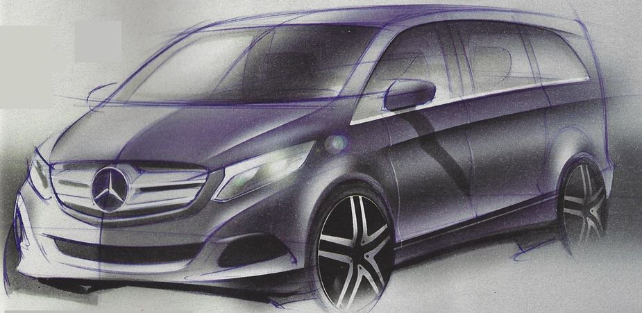 Next Generation Mercedes-Benz Viano Van Exterior Design Sketch