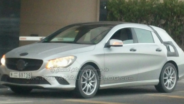 Mercedes CLA Shooting Brake Spied in Dubai