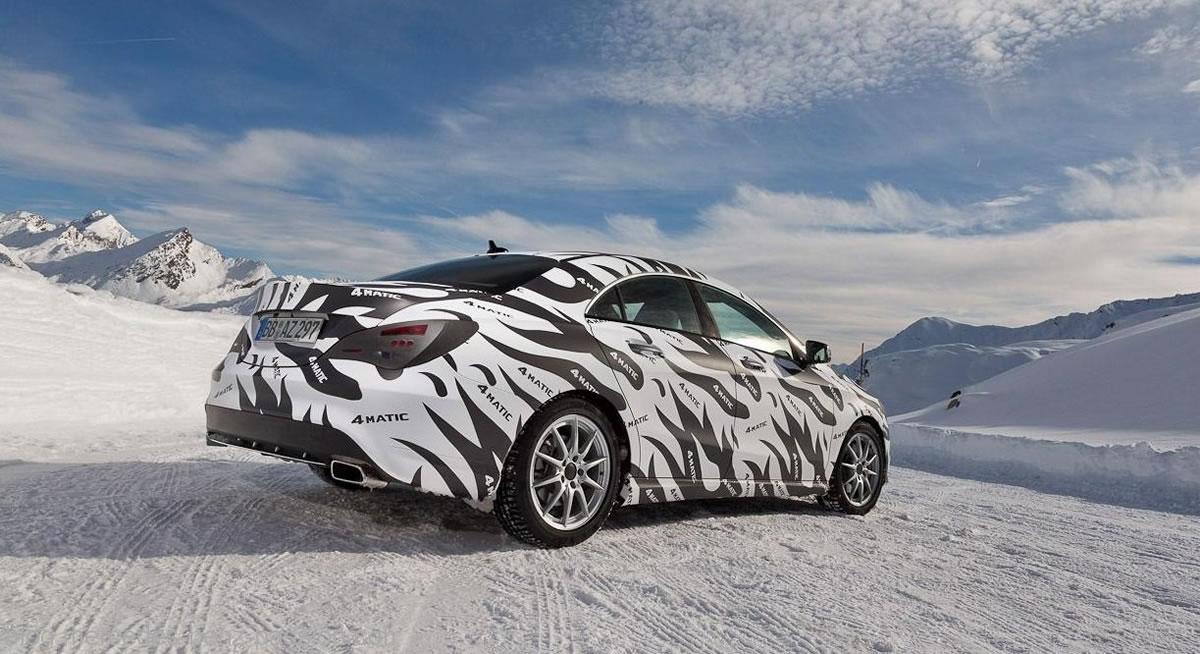 2013 Mercedes CLA45 AMG snow testing