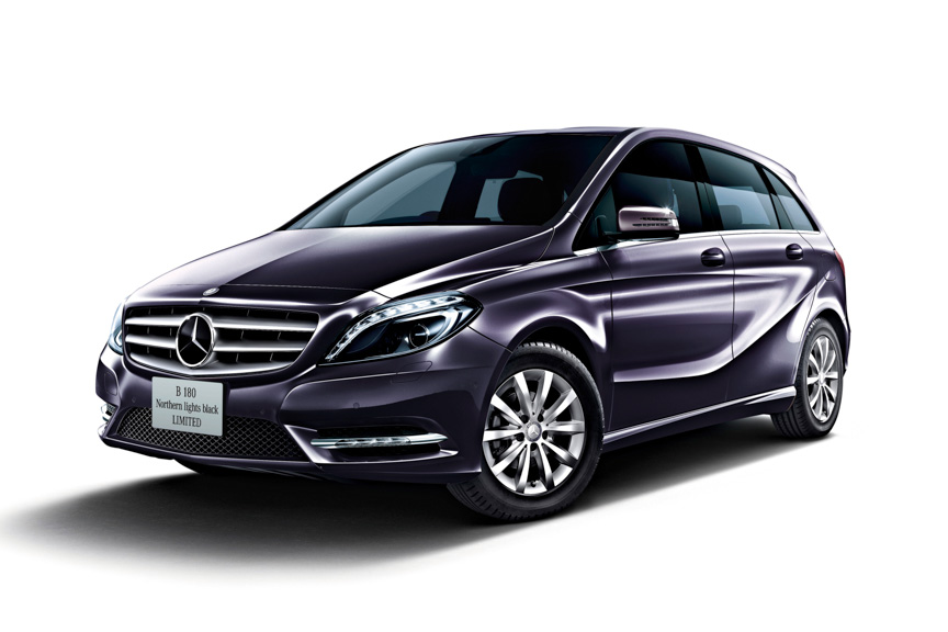 Mercedes B 180 Northern Lights Limited Edition front exterior