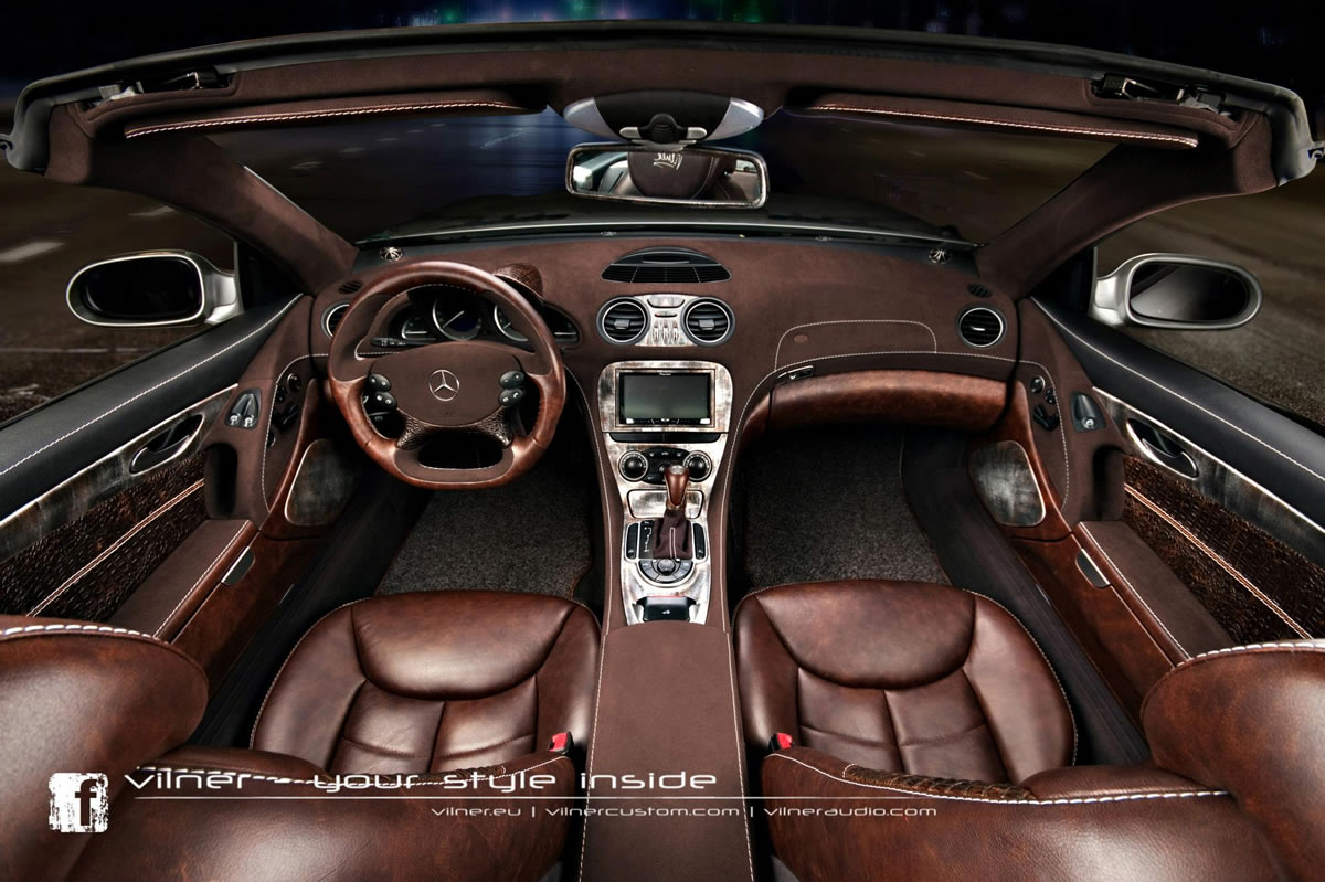 Mercedes-Benz SL by Vilner Gets rocodile Interior Photo Gallery ... - ^