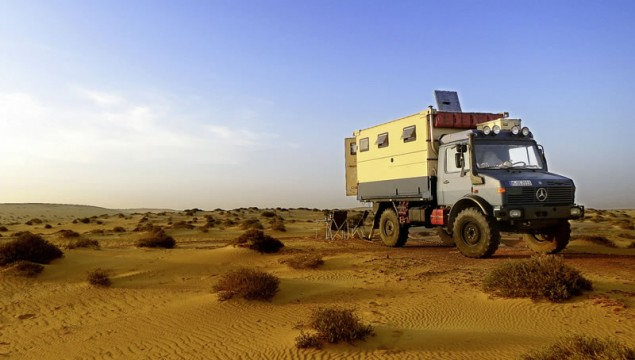 Honeymoon Around the World in a Unimog