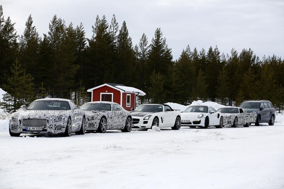 Mercedes AMG GT Winter Testing