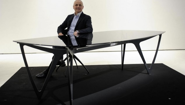 """Salone Internazionale del Mobile"" in Milan, 17 – 22 April 2012. Mercedes-Benz cooperates with Formitalia Luxury Group. Mercedes-Benz Style dining table MBS 002 and chair MBS 003"