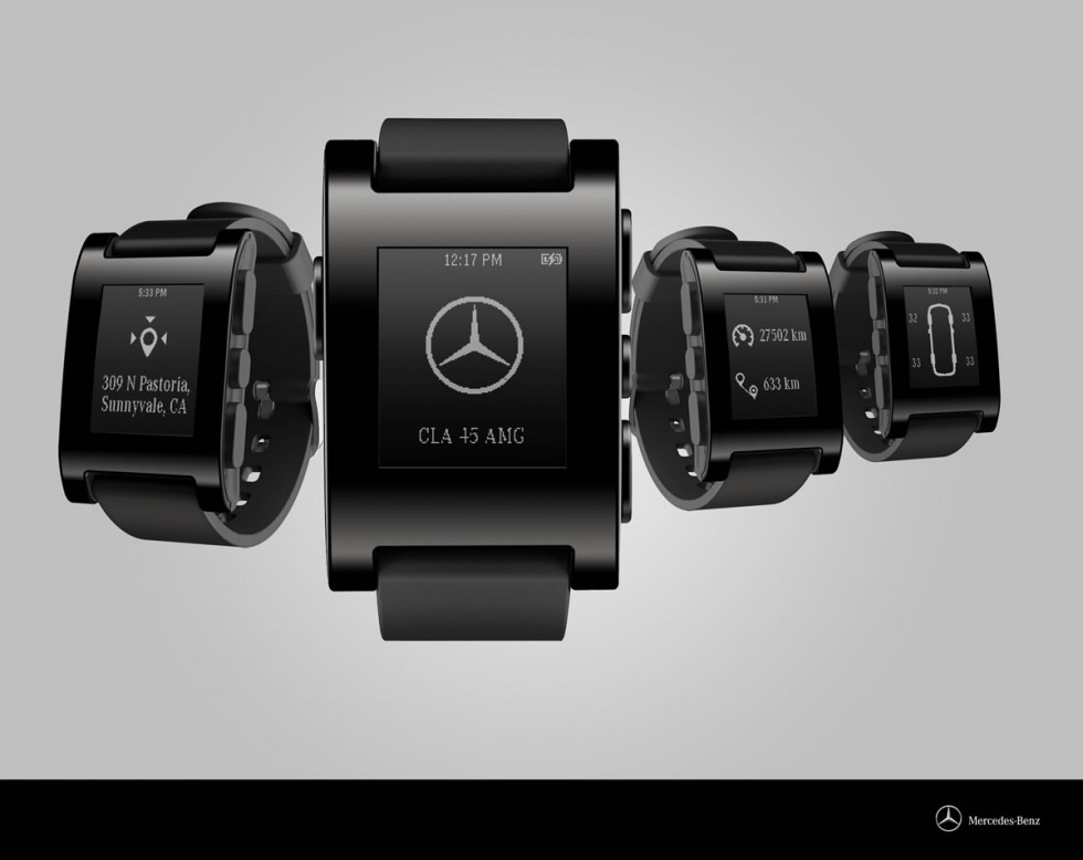 Pebble Smartwatch with Mercedes-Benz