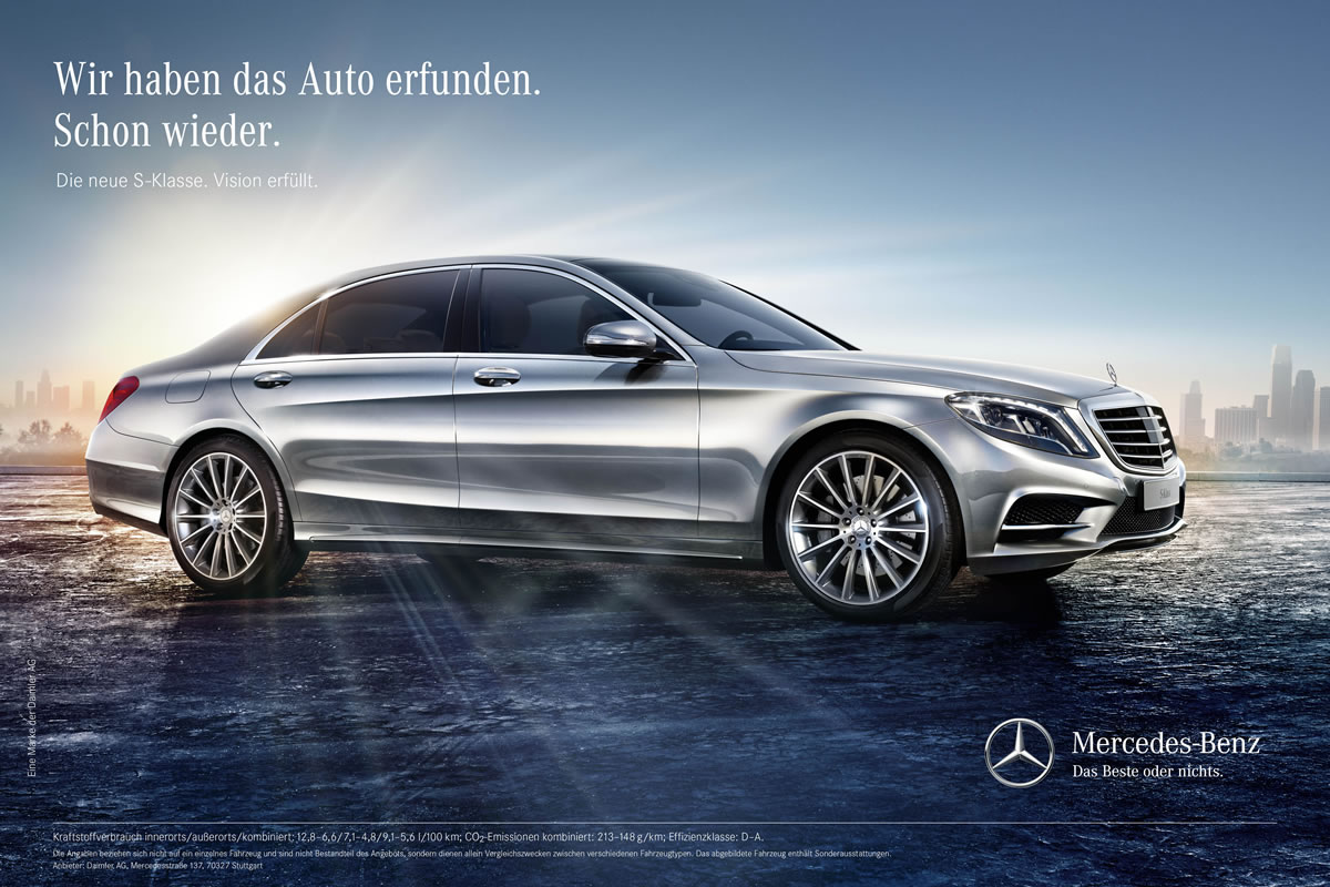 Mercedes Benz S Class Advertisement
