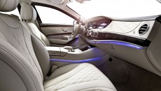 The interior of the S-Class Guard features the same level of comfort and look and feel as the standard models.