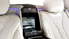 Mercedes-Benz S-Class, S 600 Guard. An integral coolbox between the rear seats helps to keep drinks cold on journeys.