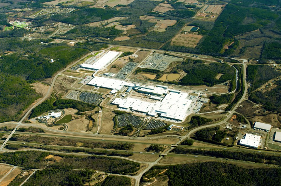 Mercedes-Benz Tuscaloosa Plant Aerial Photo