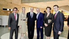Prince Albert II of Monaco and Princess Charlène Visit Mercedes-Benz Museum