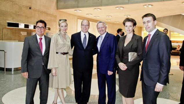 Prince Albert II of Monaco and Princess Charlène Visit Mercedes-Benz Museum