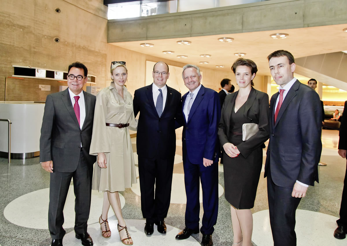 Prince Albert II of Monaco and Princess Charlène Visit Mercedes-Benz Museum 8