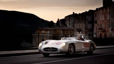 Mille Miglia 2012, Mercedes-Benz 300 SLR (W 196 S, 1955) with Jochen Mass at the wheel. Original car of Juan Manuel Fangio at the Mille Miglia 1955