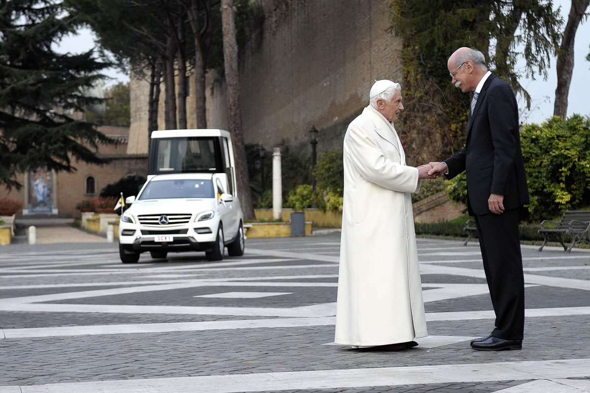 Pope Benedict XVI Takes Delivery of New Popemobile 4