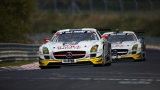 ictory for Bernd Schneider and Jeroen Bleekemolen from Black Falcon in the VLN Endurance Championship Nürburgring