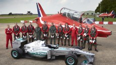 Lewis Hamilton RAF Red Arrows
