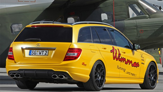 Mercedes C63 AMG by Wimmer With 624HP rear exterior